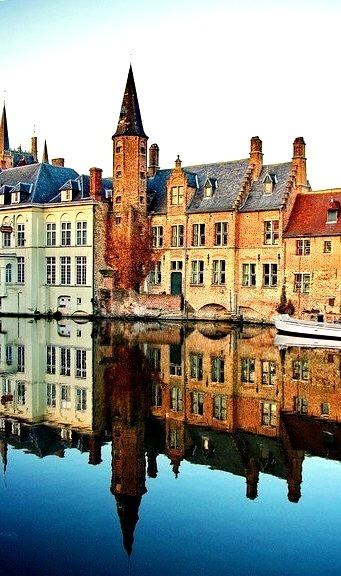 River Reflection, Bruges, Belgium