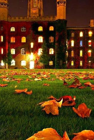 Autumn Night, Cambridge University, Cambridge England