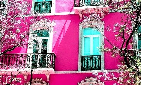 Balconies, Lisbon, Portugal