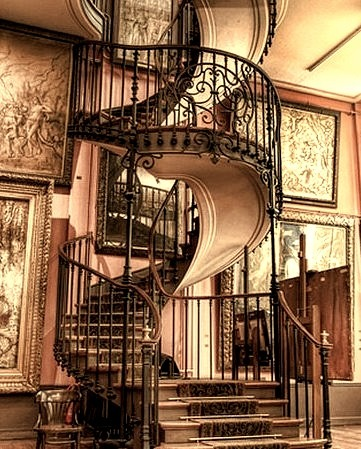 Spiral Staircase, Chateau, Provence, France