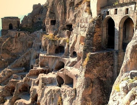 by Lidia Ilona on Flickr.Vardzia Cave City is a cave monastery dug into the side of the Erusheli mountain in southern Georgia. The monastery was constructed as protection from the Mongols. and...