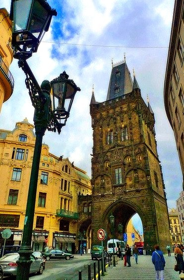City Gate, Prague, Czech Republic