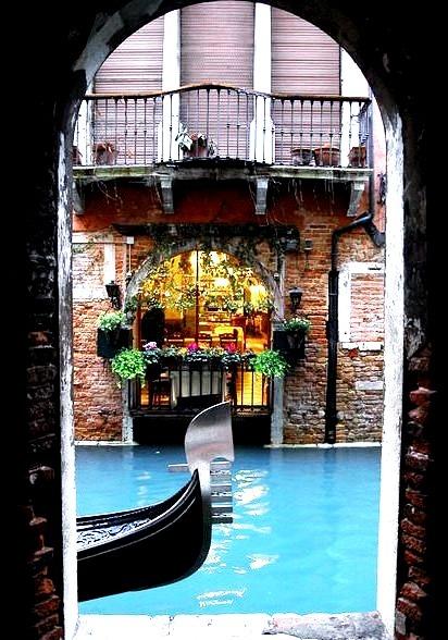 Balconies, Venice, Italy