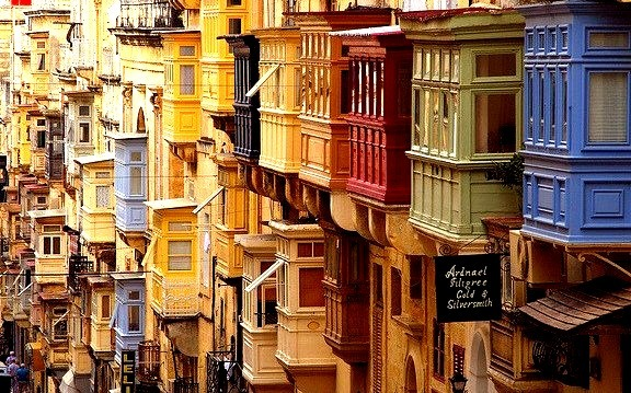 by vanto5 on Flickr.Beautiful architecture in La Valetta, Malta.