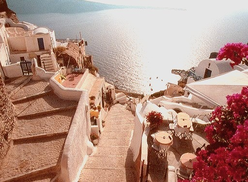 Streets of Oia, Santorini Island, Greece