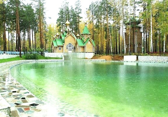 Church near the pit of Ganina Jama where the bodies of Tsar Nicholas II and his family were thrown, Russia