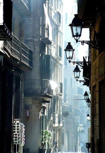 Street Lanterns, Barcelona, Spain