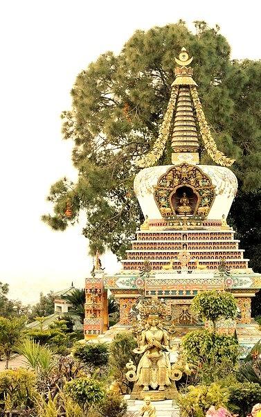Stupa at Kopan Monastery in Kathmandu Valley, Nepal