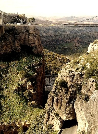 The suspended bridge in Constantine, Algeria