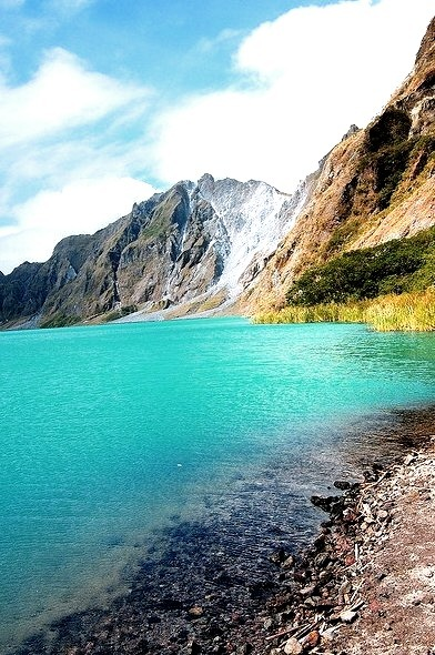 Mount Pinatubo crater lake in Zambales, Philippines