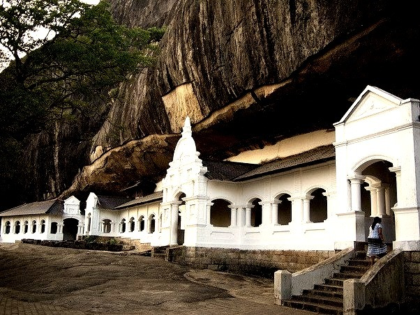 Rock Cave Temple in Dambulla, Sri Lanka