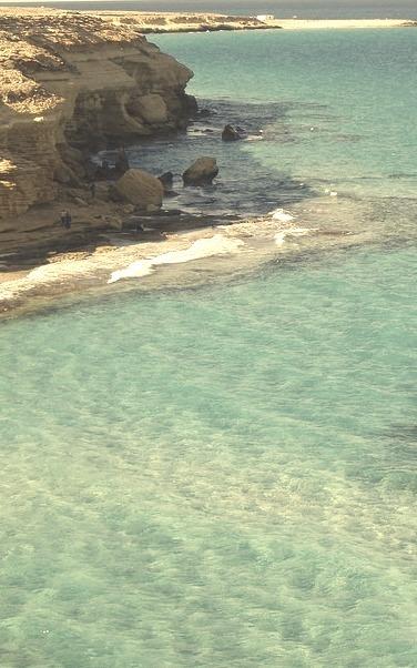 Mediterranean coast near Marsa Matruh, Egypt
