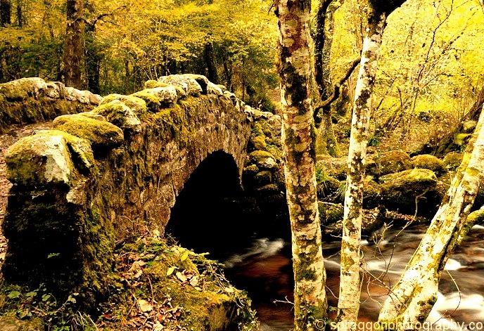 Medieval Hisley Bridge, Dartmoor, England