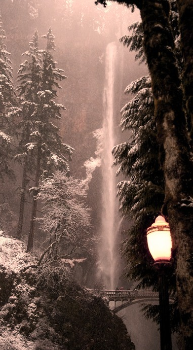 Lantern, Multnomah Falls, Oregon