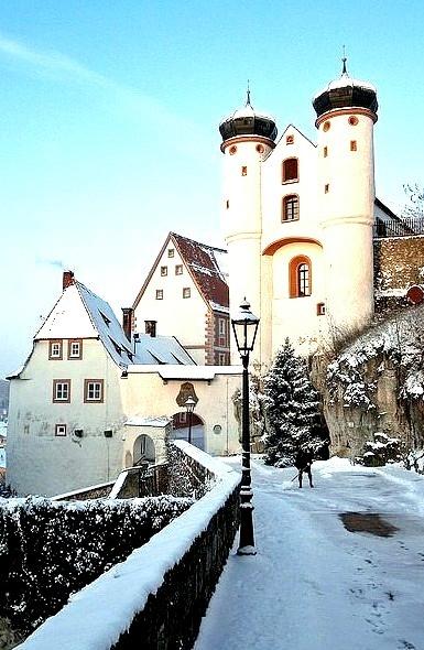 Winter Sunset, Parsberg Castle, Germany