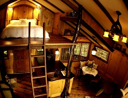 Treehouse Loft Bed, Fall City, Washington