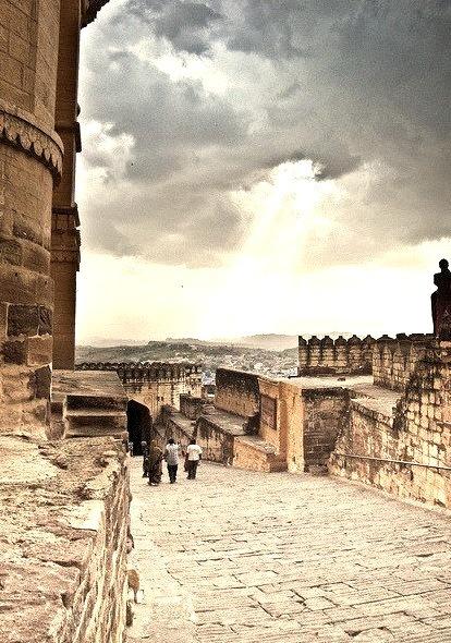 Monsoon light in Jodhpur, India