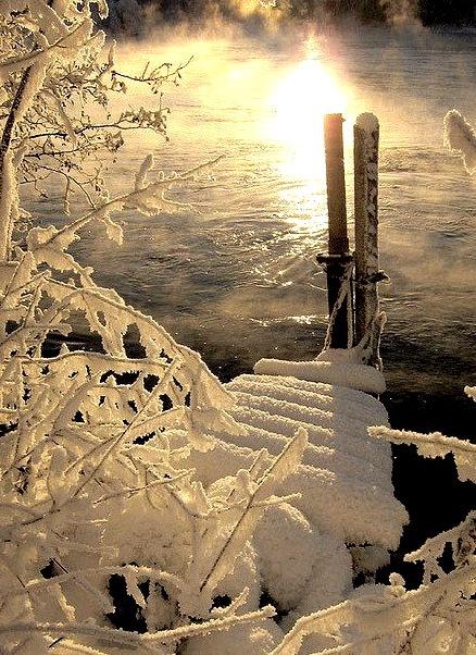 Winter reflections near Trondheim, Norway