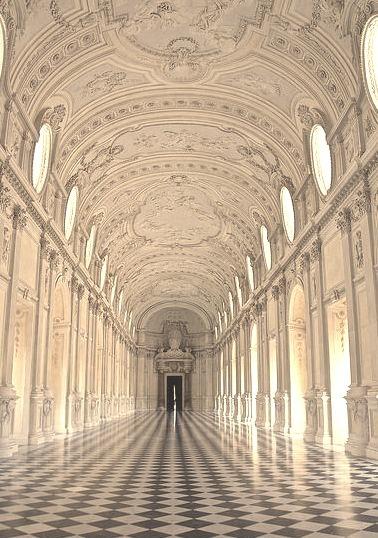 La Galleria Grande at Palace of Venaria in Piedmont, Italy